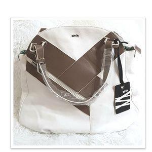 SKFK - Skunkfunk white and brown handbag
